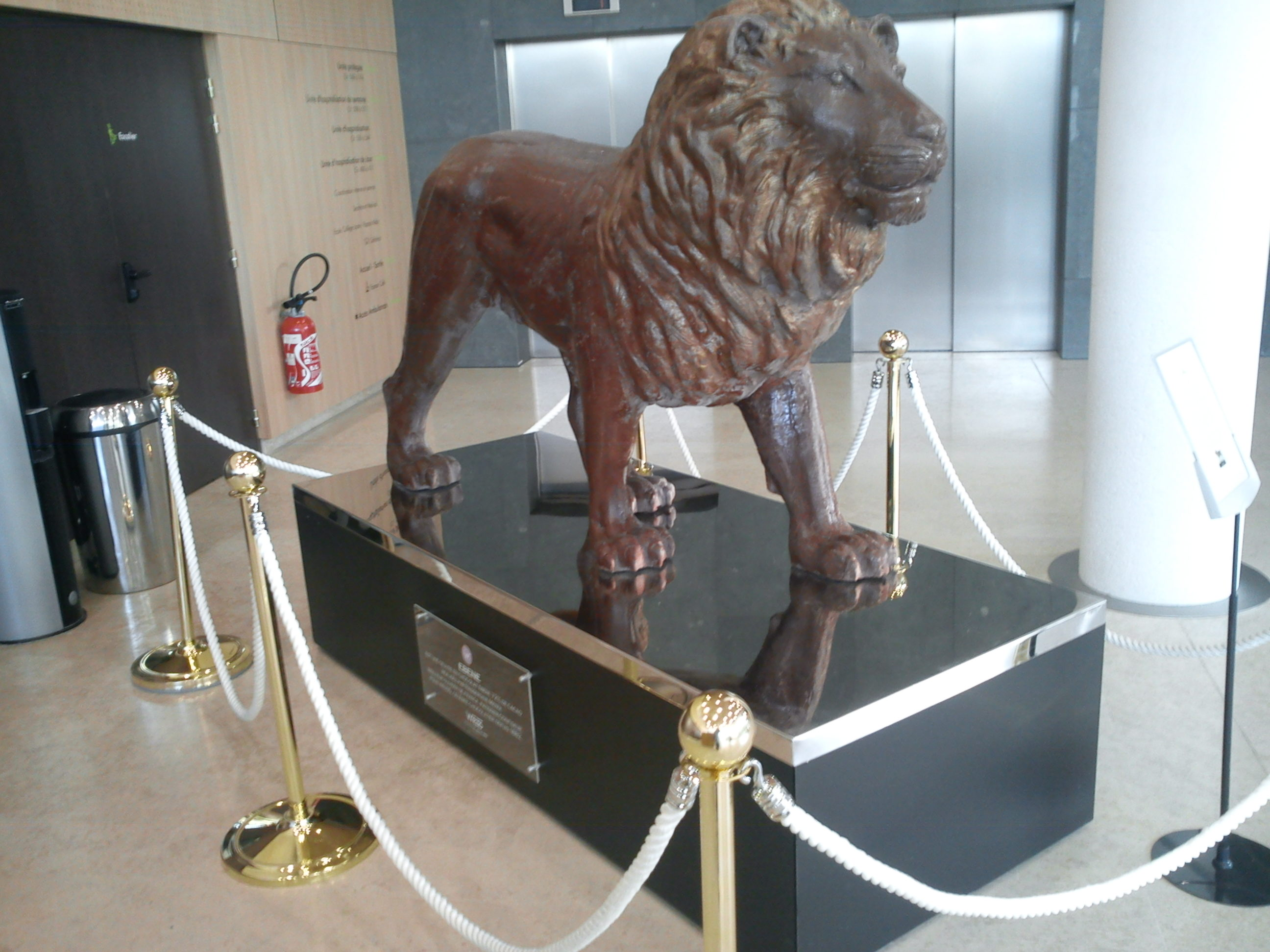 Manutention Statue Lion  Transports Garcia