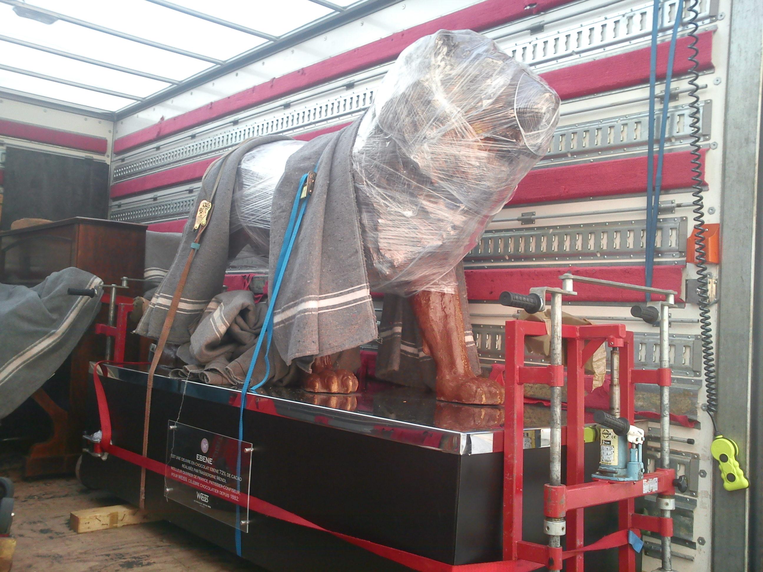 Manutention Statue Lion  Transports Garcia